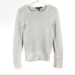 White House Black Market Silver Shimmer Sweater